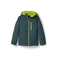 Lands' End - Boys' blue packable primaloft jacket