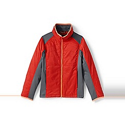 Lands' End - Boys' red primaloft hybrid jacket