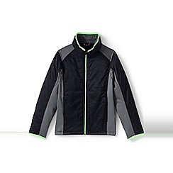 Lands' End - Boys' black primaloft hybrid jacket