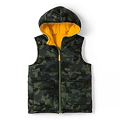 Lands' End - Boys' yellow padded gilet