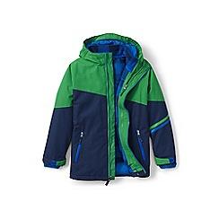 Lands' End - Boys' green stormer 3-in-1 coat