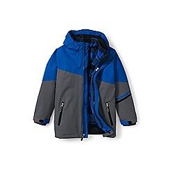 Lands' End - Boys' blue stormer 3-in-1 coat