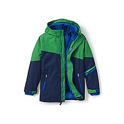 Lands' End - Boys' green stormer 3-in-1 coat