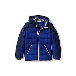 Lands' End - Boys' blue down coat