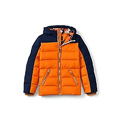 Lands' End - Boys' orange down coat