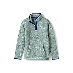 Lands' End - Boys' green sweater fleece half-zip jumper