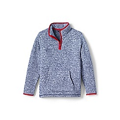Lands' End - Boys' blue sweater fleece half-zip jumper