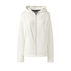 Lands' End - Cream hooded fleece jacket