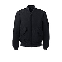 Lands' End - Black squall down bomber jacket