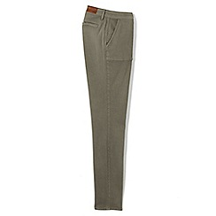Lands' End - Green regular mid rise patch pocket slim jeans