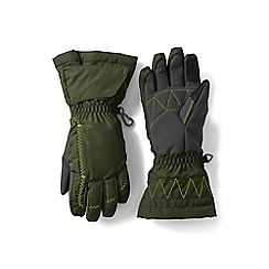 Lands' End - Boys' green expedition gloves