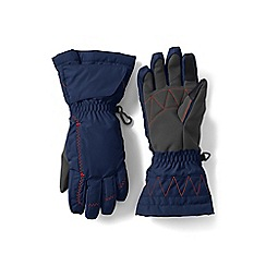 Lands' End - Boys' blue expedition gloves
