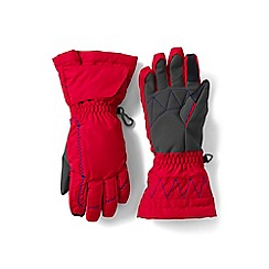Lands' End - Boys' red expedition gloves