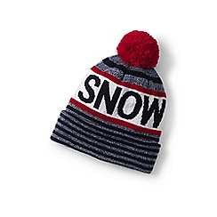 Lands' End - Boys' multicoloured pom pom beanie hat