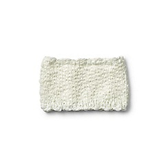 Lands' End - Girls' cream chunky knitted neckwarmer