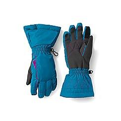 Lands' End - Girls' blue expedition gloves