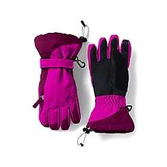 Lands' End - Girls' pink waterproof squall gloves