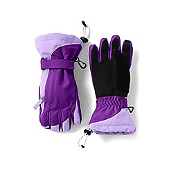 Lands' End - Girls' purple waterproof squall gloves
