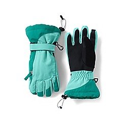 Lands' End - Girls' blue waterproof squall gloves