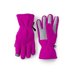 Lands' End - Girls' pink thermacheck 200 gloves