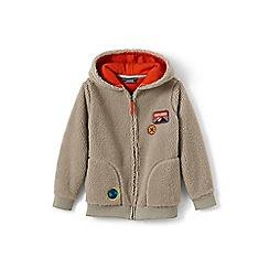 Lands' End - Boys' beige sherpa hoodie