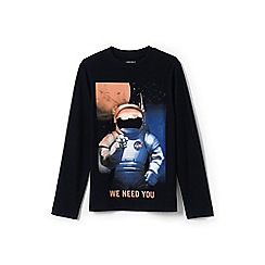 Lands' End - Boys' black graphic tee