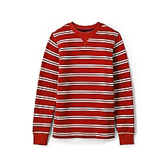 Lands' End - Boys' red striped waffle tee