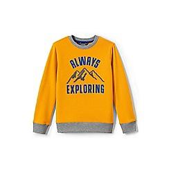 Lands' End - Boys' yellow graphic sweatshirt