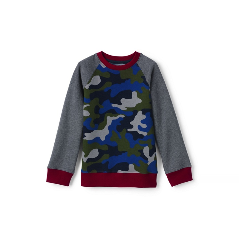 Lands' End Boys' multicoloured camouflage sweatshirt