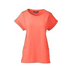 Lands' End - Pink eyelet braid jersey top