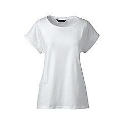 Lands' End - White eyelet braid jersey top