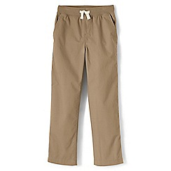 Lands' End - Boys' beige iron knee pull-on trousers