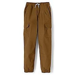 Lands' End - Boys' brown iron knee woven cargo joggers
