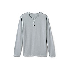 Lands' End - Grey jersey henley top