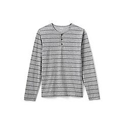 Lands' End - Grey jersey henley top