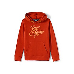 Lands' End - Boys' brown hooded sweatshirt