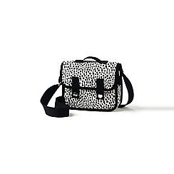 Lands' End - Girls' white dalmation dot print cross body satchel