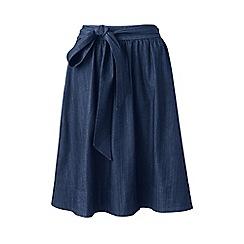 Lands' End - Blue indigo pull-on A-line skirt