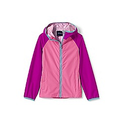 Lands' End - Girls' pink waterproof breakwater rain jacket