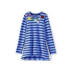 Lands' End - Girls' blue embellished sweatshirt legging top