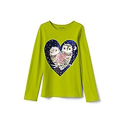 Lands' End - Toddler girls' green graphic tee
