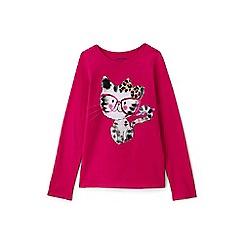 Lands' End - Toddler girls' pink graphic tee