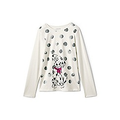Lands' End - Girls' white graphic tee
