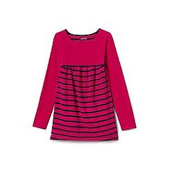 Lands' End - Girls' pink colour block/stripe trapeze legging top