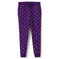 Lands' End - Girls' purple print joggers