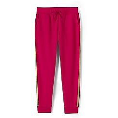 Lands' End - Girls' pink sparkle trim joggers
