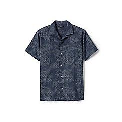 Lands' End - Blue regular printed chambray short sleeve shirt