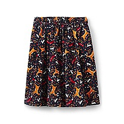 Lands' End - Girls' blue twirly cord skirt