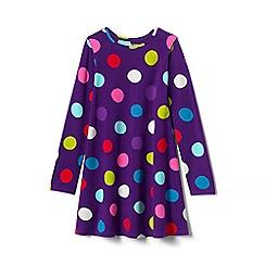 Lands' End - Toddler girls' purple jersey knit twirl dress
