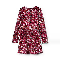 Lands' End - Girls' red jersey knit twirl dress